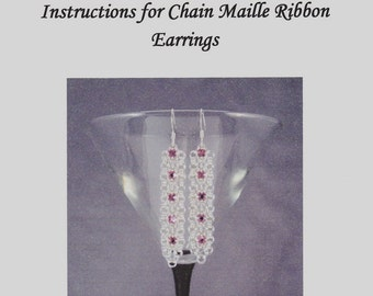 Chain Maille Ribbon Earrings Instructions PDF