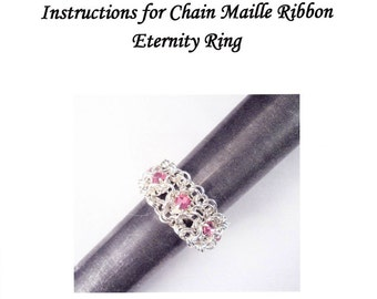 Chain Maille Ribbon Eternity Ring Instructions PDF