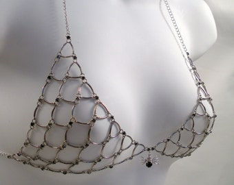 Crystal Chainmaille Spider Bra - Clearance