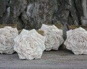 Set of 4 Burlap Napkin Rings, Table Decor, Reception Decor, Rustic Wedding Decor, Place Setting, Bridal Shower Gift, Housewarming Gift