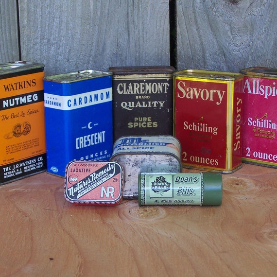 Instant Collection of Vintage Household Tins