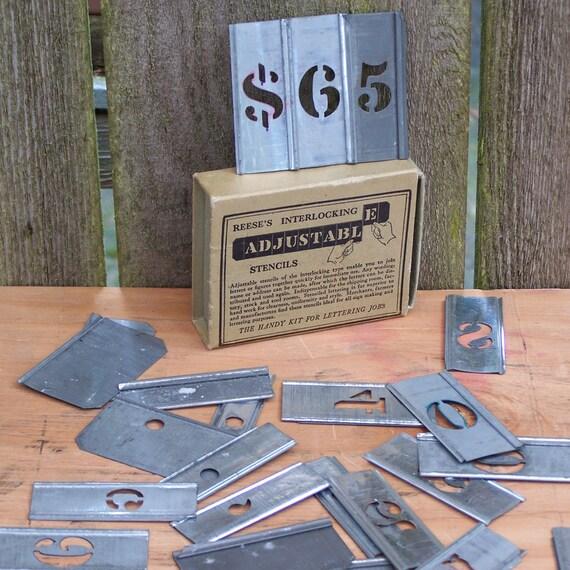 "Vintage Reese's Interlocking Adjustable Stencils, 3/4"" Figures"