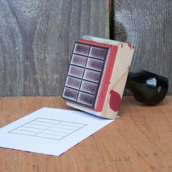 Vintage Wooden Handled Rubber Stamp