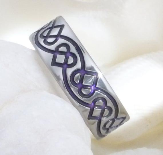 Irish Wedding Ring Tattoos: Titanium Irish Celtic Wedding Band Ck35 By TitaniumRingsStudio