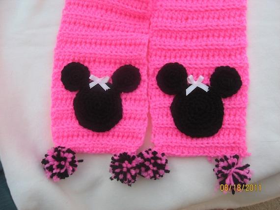 Crochet Minnie Mouse Scarf