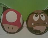 Mario Mushroom and Goomba Bra