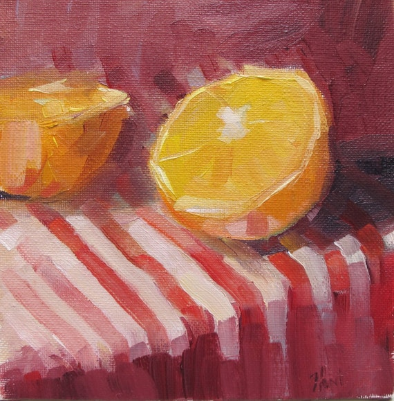 FRESH SQUEEZE daily painting Linda Hunt
