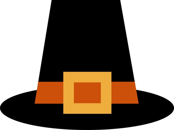 Items similar to Thanksgiving Pilgrim Hat Clip Art, for Scrapbooking ...