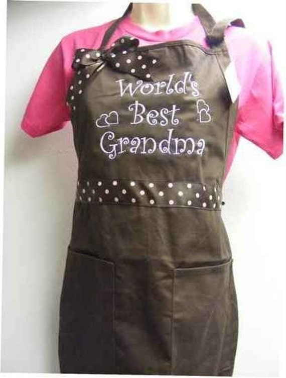 World's Best Grandma Apron  Can be personalized also