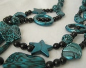 Blue And Black Necklace FREE SHIPPING