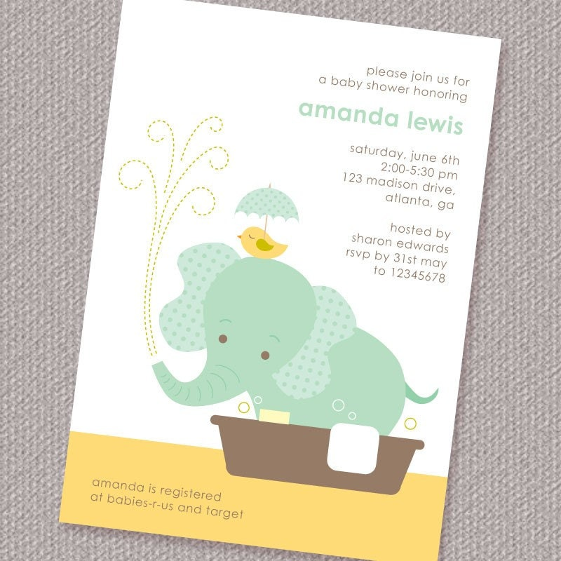 Enterprising image within etsy baby shower invitations printable