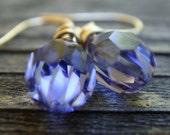 Tanzanite Crystal Earrings