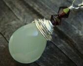 Green Drop Necklace by EmKay Designs