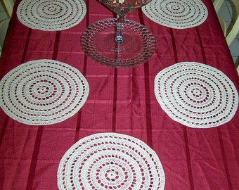 hand crocheted placemat set