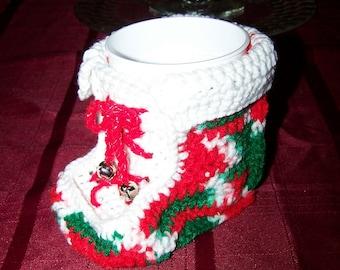 crocheted santa boot