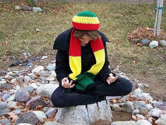 Rastafarian Crocheted Winter Set