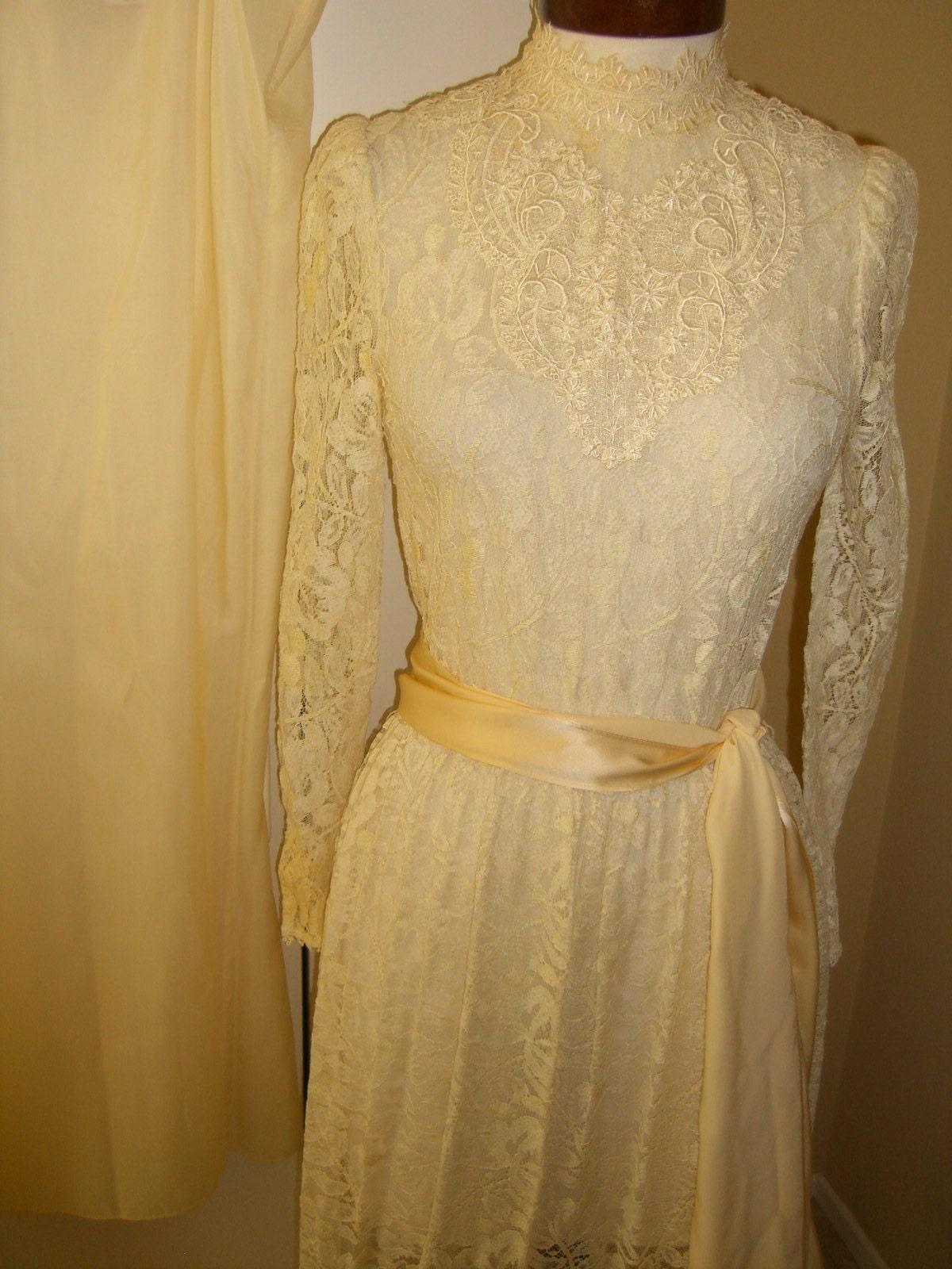 Vintage Hippie Lace Dress Wedding Dress Jessica McClintock