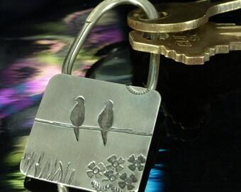 Key Ring- Doves in Love