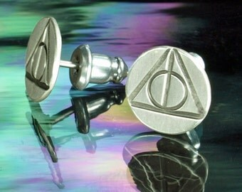 Stud Earrings- Harry Potter, Deathly Hallows