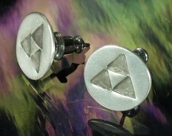 Stud Earrings- Triforce