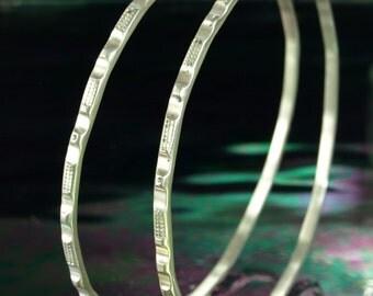 Hoop Earrings- Bars and Grids