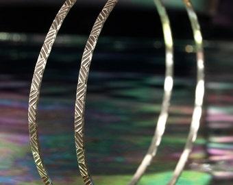 Hoop Earrings- Herringbone- BIG