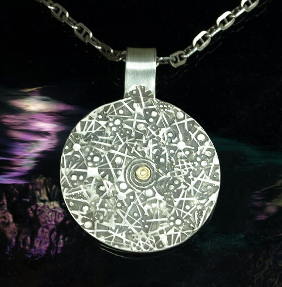 Pendant- Golden Heart of the Galaxy