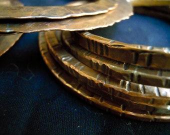 7 copper bangles
