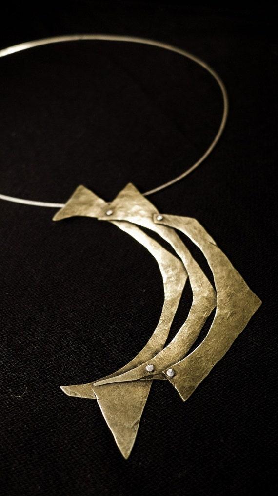 Cubist Crescent necklace