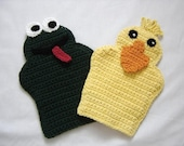 Dani Ducky and Freddy Frog Bath Mitts