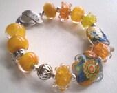 SUNSHINE - A Lampwork Bracelet