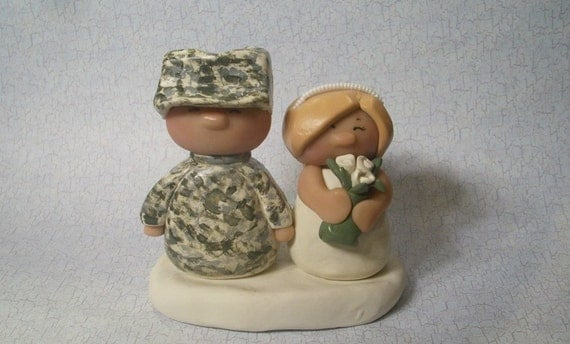 military wedding cake toppers army chubz wedding cake topper by gingerbabies on etsy 17374