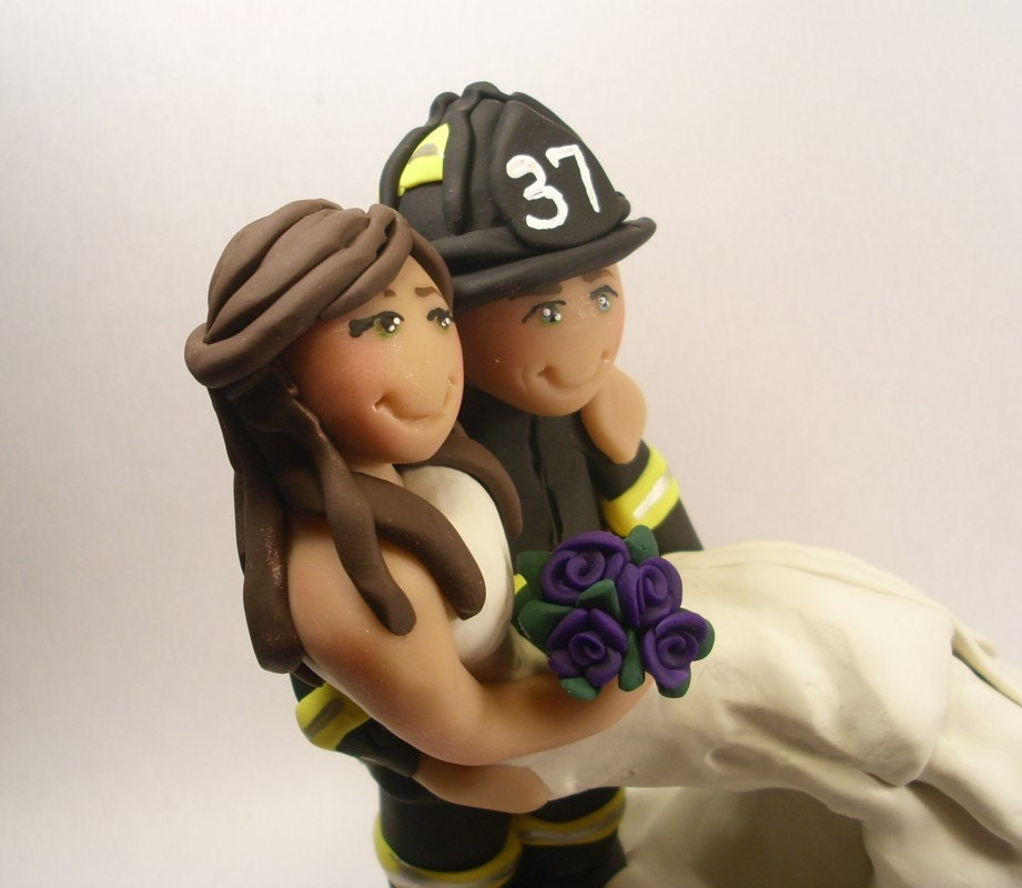 Firefighter Wedding: Firefighter Wedding Cake Topper Rescue By Gingerbabies On Etsy