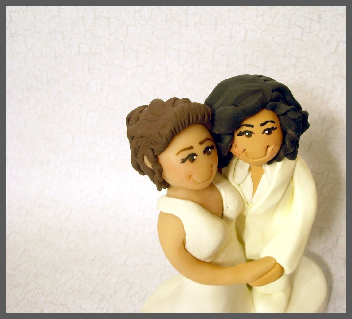 sex wedding cake toppers same wedding cake topper civil union by gingerbabies 19762