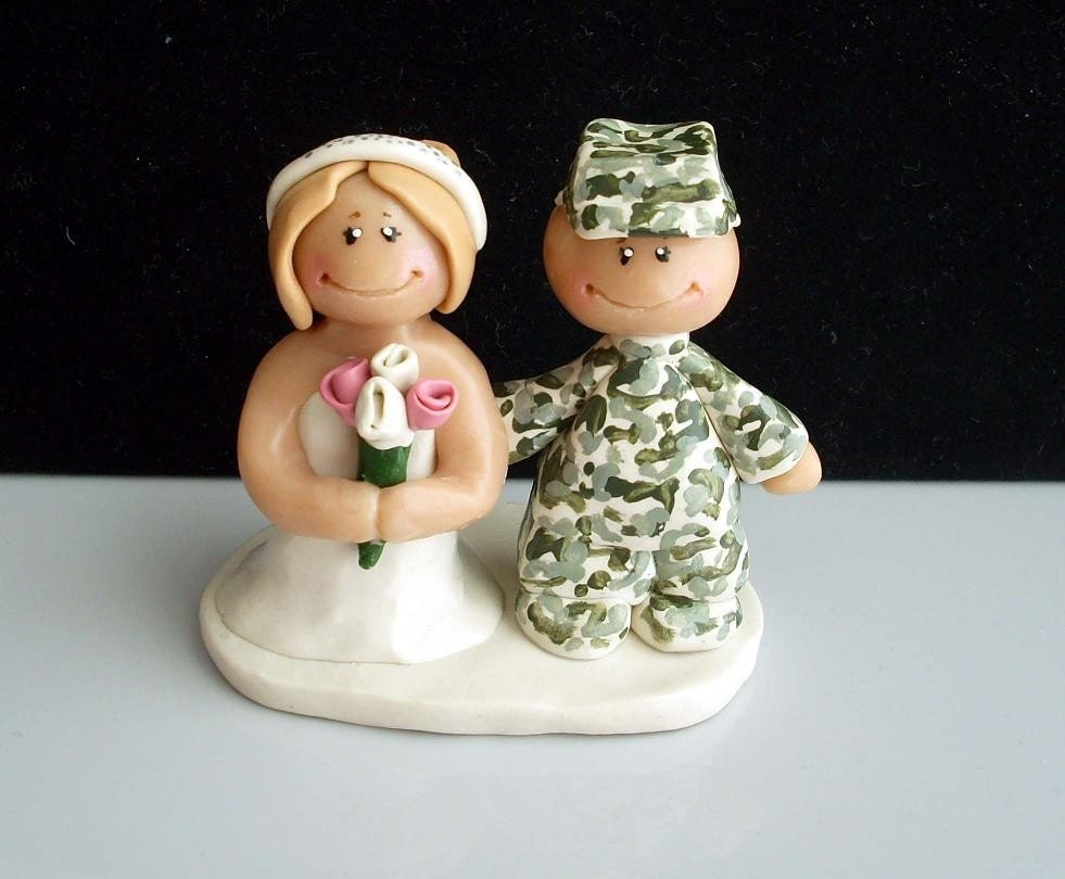 military wedding cake toppers wedding cake topper figurine by gingerbabies on 17372