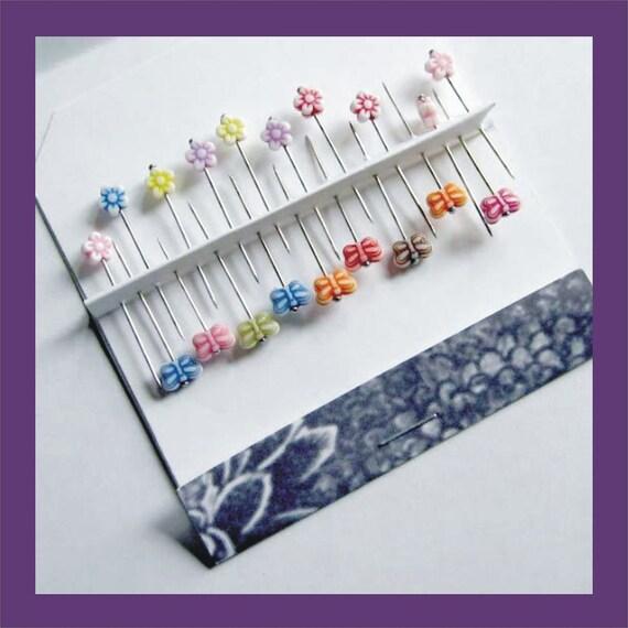 Butterfly & Flower Pins - Scrapbooking - Cardmaking