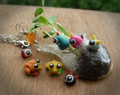 Tiny Terrarium Monsters and Frogs Photo Props - custom listing for abbielyn