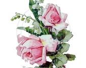 Vintage Klein Chic Pink Rose Shabby Style 8 waterslide water slide Decals De-Klein-19