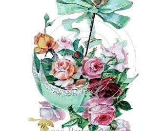 You Pick One Design - any Vintage Flower waterslide water slide decal designs - 9.99 per sheet