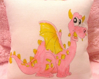 Pink Dragon Tooth Fairy Pillow