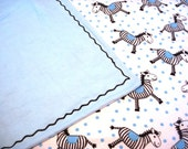 Boutique XL Double Flannel Receiving Blanket Zany Zebras