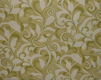 Moda Hunky Dory Vines Fabric in Groovy Green