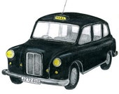 LONDON TAXI DRAWING - Limited Edition Print