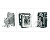 3 Camera Drawings - Limited Edition Print Set