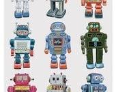 Retro Robots -  Limited edition archival print