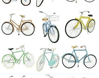 12 Bicycle Drawings - Limited Edition Archival Print