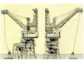 London Cranes - Limited edition print
