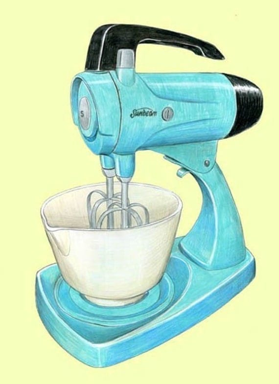 Cartoon Kitchen Mixer ~ Electric mixer drawing