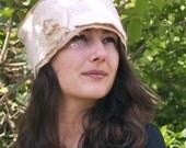felt hat pillbox style made with merino wool anna