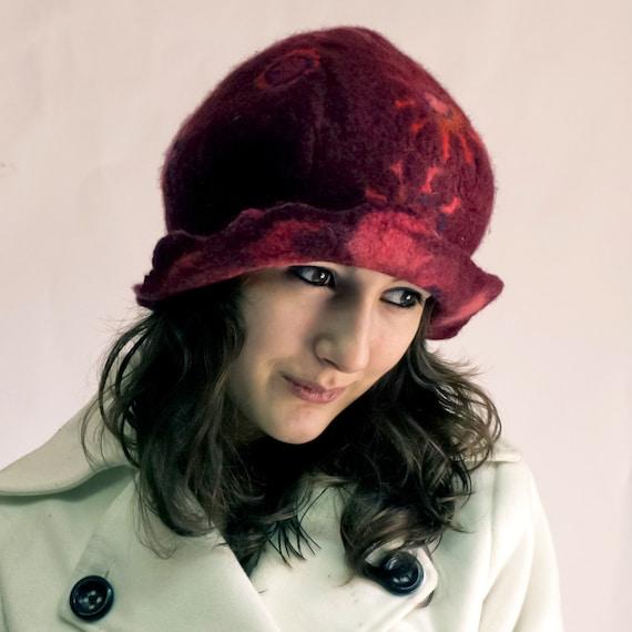 RESERVED Listing felt hat merino wool handmade in france molly